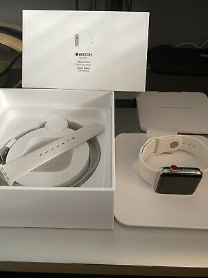 $ CDN345.44 • Buy Apple Watch Series 3 42mm Stainless Steel Soft White Sport Band - Immaculate