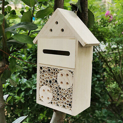 £9.29 • Buy Insect Butterfly House Hotel Wooden Bee Bug Natural Shelter Garden Nest Hang Box