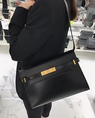 AU799 • Buy Authentic YSL Saint Laurent Manhattan Shoulder Bag In Box Leather