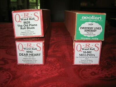 $ CDN14.21 • Buy Player Piano Roll Collection Builder Set #27: Aeolian & QRS Player Piano Rolls