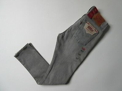 £18.15 • Buy NWT Levi's 505 C In Burn Rubber Gray Destroyed Straight Stretch Jeans 28 X 30