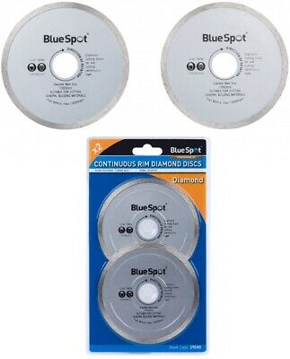AU10.70 • Buy BlueSpot 2 Pc Diamond Continuous Cutting Disc 115mm / 4.5 Inch