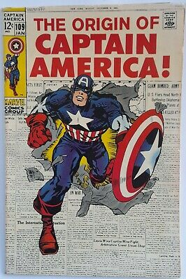 AU12.58 • Buy Marvel Comics Silver Age - Captain  America - Issue No 109 - January 1969.
