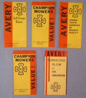 AU17.45 • Buy Vtg B.F. Avery Moline Rakes Tractor Plow Mowers Implements Machinery Brochures