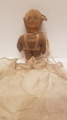 $100 • Buy Rare Vintage 1940's WWII RAGGY-DOODLE ARMY Soldier Military Parachute Rag Doll