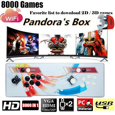 AU258.88 • Buy Pandora's Box 8000 2D/3D Games In1 Home Stick Arcade Console Video HDMI WIFI AU
