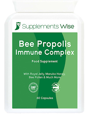 £12.95 • Buy Bee Propolis Complex 60 Capsules With D3, C, Royal Jelly, Zinc Immune Booster