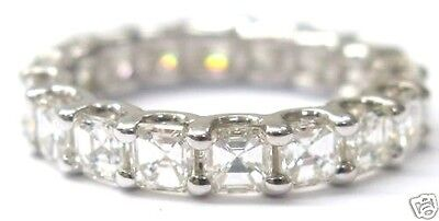 AU4751.27 • Buy Solid 14Kt Asscher Cut NATURAL Diamond Eternity Ring 3.00Ct White Gold Sz 5.5