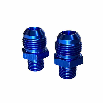 $11.99 • Buy 2Pcs AN10 10AN To M16X1.5 Male Straight Adapter Flare Fitting Blue Aluminum