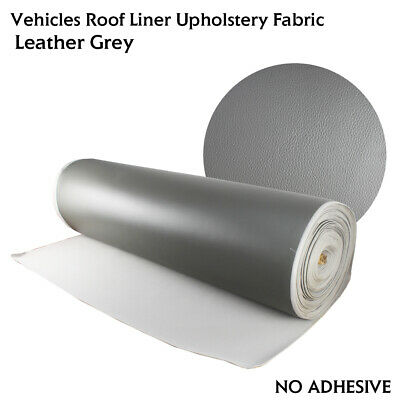 $43.23 • Buy 2yard Gray Faux Leather Foam Headliner Fabric Matches The Original Perfectly