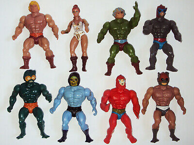 $189 • Buy LOT Vintage 8 Figure MASTERS DEL UNIVERSO Back MOTU Spanish SPAIN Mattel HE-MAN