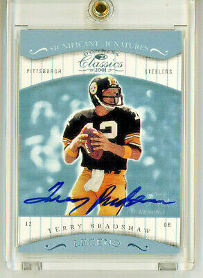 $165 • Buy 2001 Donruss Classics Terry Bradshaw Significant Signatures On Card Auto #190