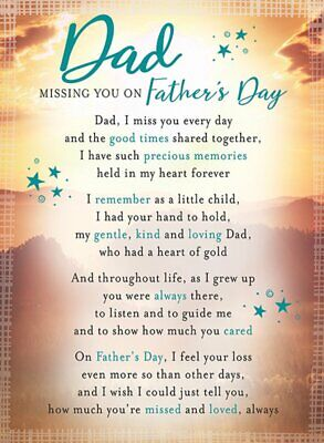£2.99 • Buy Memorial Grave Card Dad Missing You On Father's Day 16.5cm X12cm