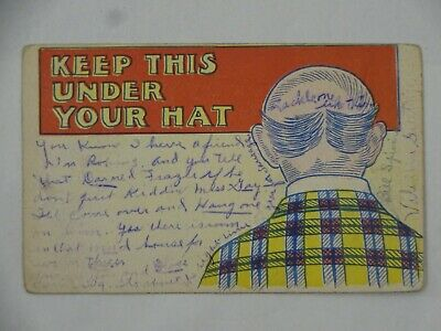 $ CDN7.49 • Buy C1911 Postcard Keep This Under Your Hat Oquawka IL Gus A Johnson Robins IA USA