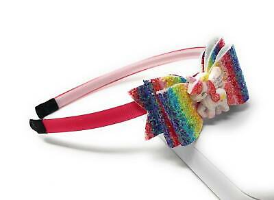 AU14.19 • Buy Glitter Rainbow Unicorn Headband, Sequins Hairbands For Girls, Hair Accessories
