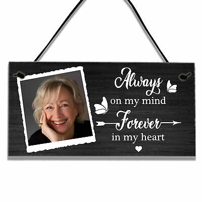 £3.99 • Buy Personalised Memorial Remembrance Gifts Wall Hanging Sign In Memory Of Plaque