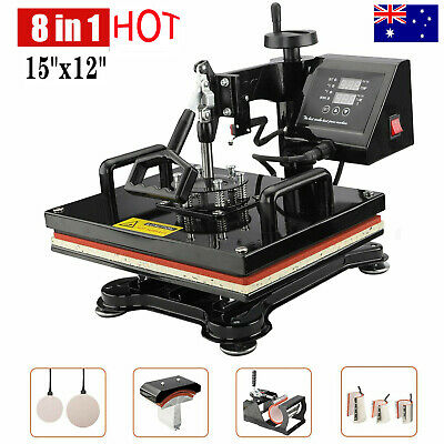 AU280.99 • Buy AU Digital Heat Press Transfer T-Shirt Mug Hat Sublimation Printing Machine 8in1