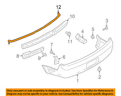 $170.41 • Buy FORD OEM 05-09 Mustang Rear Bumper-Upper Cover 5R3Z17D955A