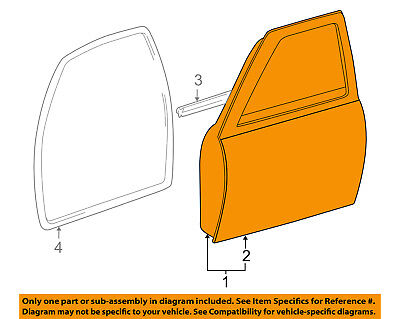 $1001.43 • Buy TOYOTA OEM 95-04 Tacoma Front Door-Shell Frame Panel Right 6700104130