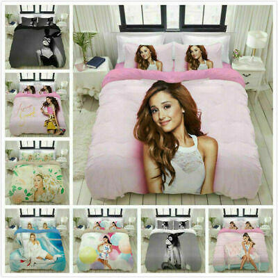 AU74.69 • Buy Ariana Grande 3D Printed Set Bedding Set 2/3PCS Duvet Cover & Pillowcase UK12