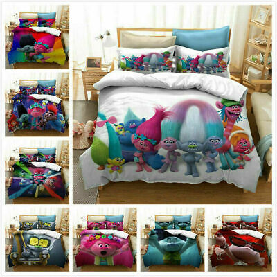 AU74.69 • Buy Trolls Bobby 3D Bedding Set 2/3PCS Duvet Cover & Pillowcase(s) UK12