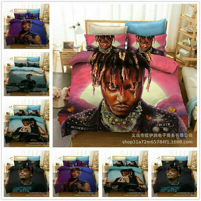 AU74.69 • Buy Juice Wrld 3D Bedding Set 2/3Pcs Duvet Cover & Pillowcase(s) Gift UK12