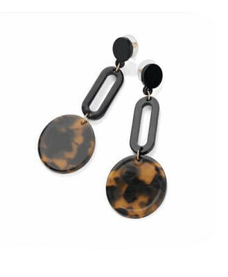 £3.99 • Buy Black And Brown Tortoise Shell Effect Drop Earring