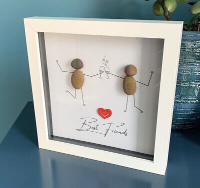 £12 • Buy Personalised Best Friend Picture Frame, Friends Pebble Drinking Picture Gift