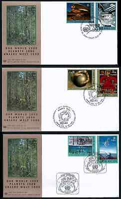 $6 • Buy United Nations New York # 777-778+, Set Of 3 Fdc Covers Our World 2000 Millenium