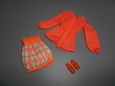 $ CDN25.05 • Buy Vintage Barbie TANGERINE SCENE #1451 Original 1970 OUTFIT With Shoes