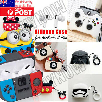 AU9.95 • Buy For AirPod 3 Pro Cute 3D Cartoon AirPods Soft Silicone Case Protective Cover AU