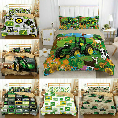 AU74.69 • Buy John Deere 3D Bedding Set 2/3PCS Duvet Cover & Pillowcase(s) UK12