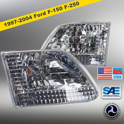 $44.60 • Buy Euro Headlights Headlamps For 1997-2003 Ford F-150 F-250 Expedition - Chrome