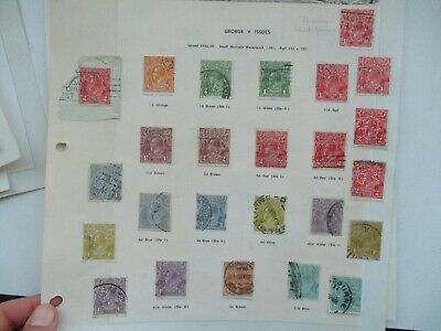 AU4.25 • Buy Pre Decimal Stamps: KGV Selection On Page Used   -  RARE  (t1561)