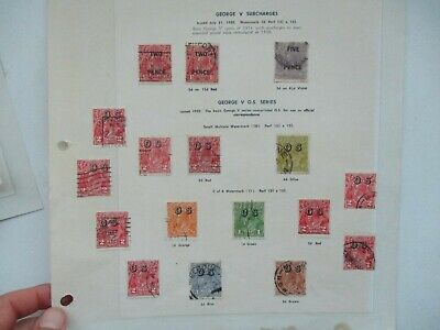 AU3.55 • Buy Pre Decimal Stamps: KGV Selection On Page Used   -  RARE  (t1563)