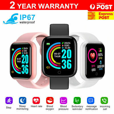 AU15.75 • Buy Bluetooth Smart Watch Waterproof Heart Rate Fitness Bracelet For IPhone Samsung