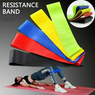 AU8.45 • Buy AU Resistance Bands Power Heavy Strength Exercise Fitness Gym Crossfit Yoga 2021