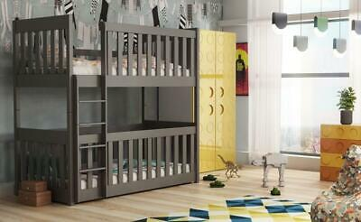 £429 • Buy Brand New Wooden Bunk Bed Konrad With Cot Bed In Graphite