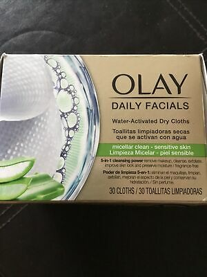 AU14.49 • Buy OLAY Daily Facials Water Activated Dry Cloths Micellar Clean - 30 Cloths