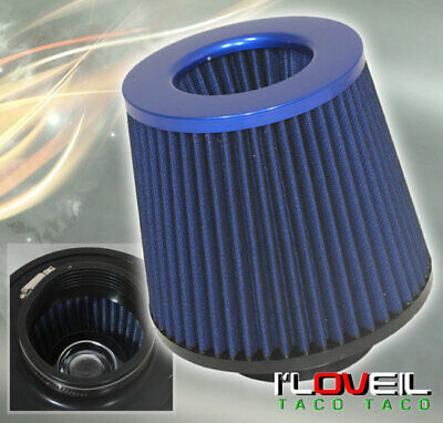 $21.99 • Buy 3  High Flow Dry Cone Cold Air Short Ram Intake Filter Blue For Nissan