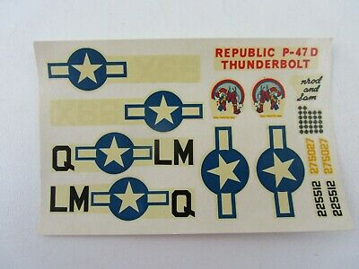 £5 • Buy Decals Only Republic P-47D Thunderbolt Model Plane