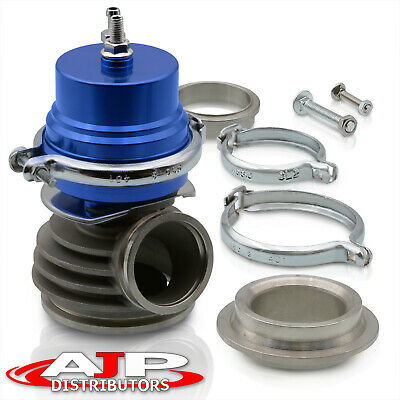 $69.99 • Buy 50mm V-Band Cast Aluminum Exhaust Header Manifold Wastegate Turbo Charger Blue