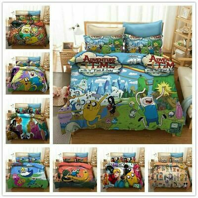 AU74.69 • Buy Adventure Time 3D Bedding Set 2/3Pcs Duvet Cover & Pillowcase(s) Gift UK12