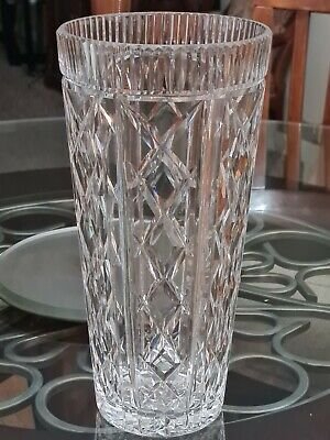Waterford Cut Crystal Clare Pattern Vase Large 12  X 6  Heavy • 100.05£