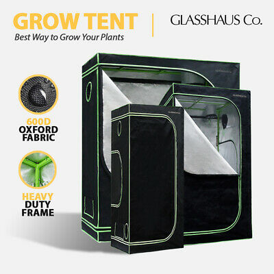 AU106 • Buy Glasshaus Grow Tent Kits Real 600D Oxford Hydroponic Indoor Grow System 11-Size