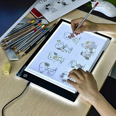 £9.99 • Buy LED Copy Board Super Thin Light Box Drawing Pad Tracing Table USB Cable - New