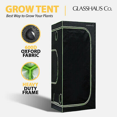 AU58 • Buy Glasshaus Grow Tent Kits Size K: 50x50x100cm Real 600D Oxford Indoor System