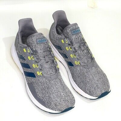 AU27.07 • Buy Adidas Mens Duramo 9 Running Shoes Gray Yellow BB6920 Lace Up Low Top 10.5M
