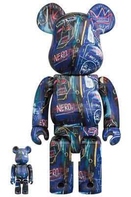 $210.80 • Buy MEDICOM TOY  BE@RBRICK JEAN-MICHEL BASQUIAT #7 100% & 400% Set Bearbrick