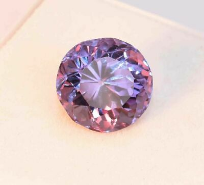 AU48.99 • Buy 11.80 Ct Natural Color-Change Alexandrite GIE Certified Round Cut Loose Gemstone